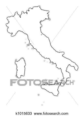 Dessin italie contour carte k1015633 recherchez des - Dessin contour ...