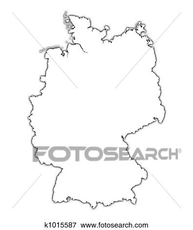 Stock Illustration Of Germany Outline Map K Search EPS - Germany map drawing