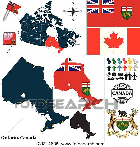Map Of Ontario Canada Clipart K28314635