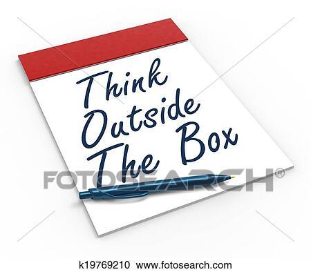 Attractive Colección De Ilustraciones   Pensar, Exterior, Caja, Cuaderno, Significado,  Creatividad, Innovador, O, Poniendo Común