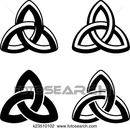 clipart of vector celtic knot black white symbols k23510102 search rh fotosearch com celtic knot clip art gold celtic knot clipart images