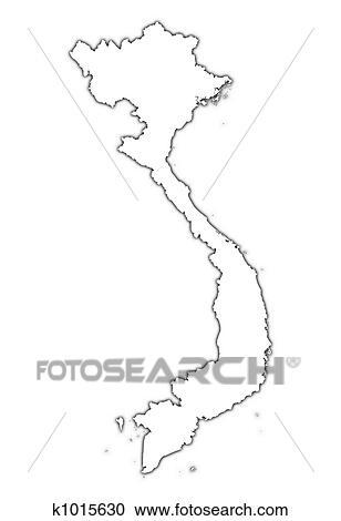 Vietnam outline map Clipart