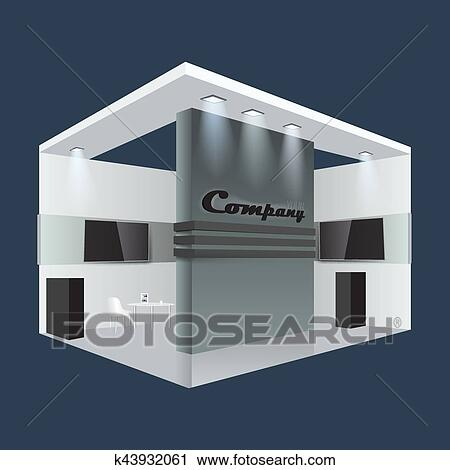 Exhibition Stand Template : Creative exhibition stand design booth template corporate