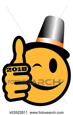 clipart new years smiley 2018 fotosearch search clip art illustration murals