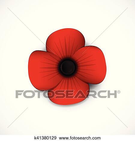 Clip art of poppy k41380129 search clipart illustration posters poppy mightylinksfo