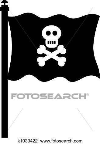 clip art of pirate flag k1033422 search clipart illustration rh fotosearch com Pirate Flag Logo Pirate Flag Wallpaper