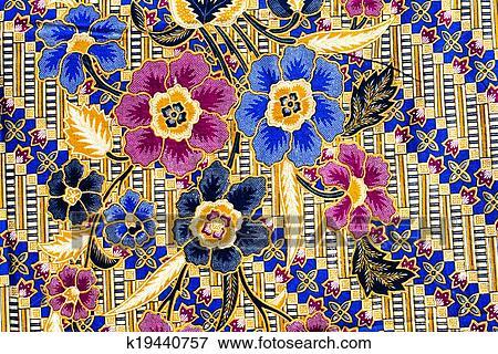 Picture Of Popular Batik Sarong Pattern Background In Thailand Impressive Batik Pattern