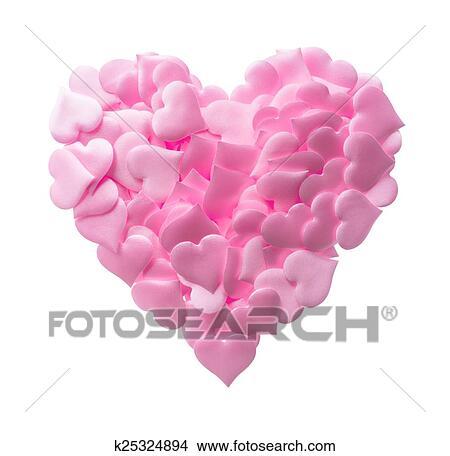 Colección De Foto Grande Corazón Hecho De Pequeño Rosa