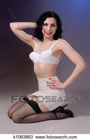 33f136f31 Stock Image - fifties cheesecake girl. Fotosearch