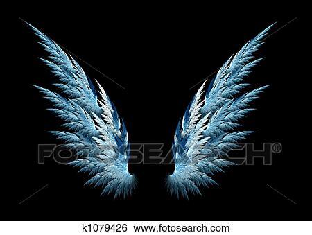 青い天使 翼 イラスト K1079426 Fotosearch