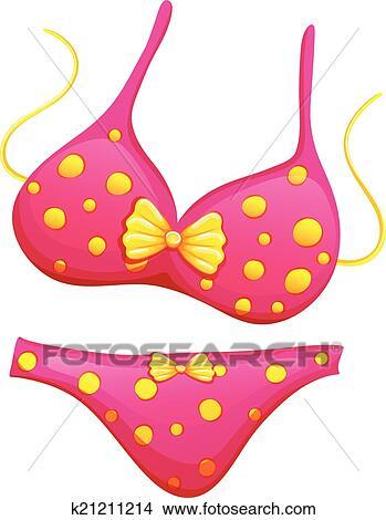 A pink bikini Clipart | k21211214 | Fotosearch