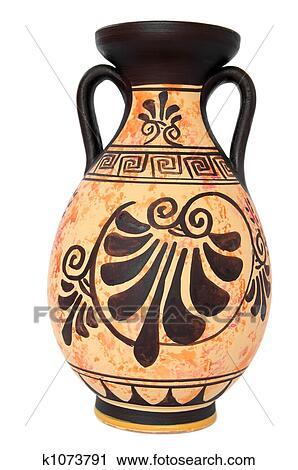 Archivio fotografico antico greco arancia vaso for Vaso greco antico