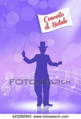 Disegni Di Natale Vettoriali.Concerto Di Natale Archivio Illustrazioni