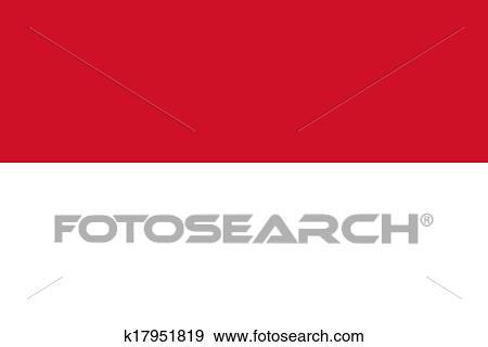 Drapeau De L Indonésie banque d'illustrations - drapeau indonésie k17951819 - recherche de