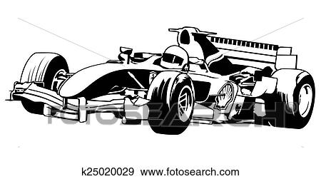 clip art of formula one k25020029 search clipart illustration