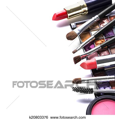 Stock Images Of Makeup Brush And Cosmetics K20803376
