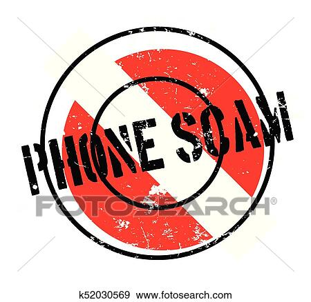clip art of phone scam rubber stamp k52030569 search clipart rh fotosearch com IRS Scam Latest Telephone Scams