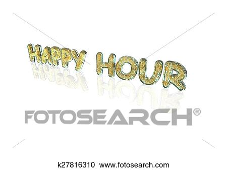 Stock Illustrations Of Word Happy Hour Made From Percentage Symbols