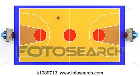 drawing of basketball court k1089713 search clipart illustration