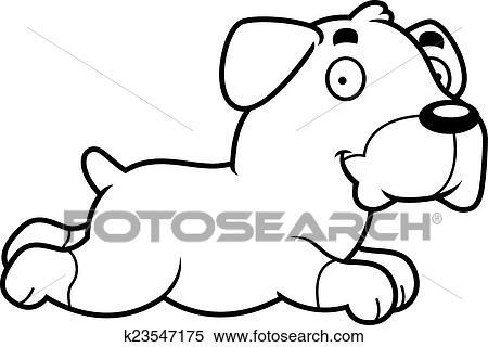clipart of cartoon rottweiler running k23547175 search clip art rh fotosearch com Rottweiler Money Clips Rottweiler Artwork