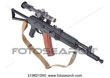 Ak 105 stock photography of modern assault rifle ak105 with optical sight