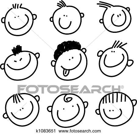 Smilie Faces Clip Art K1083651 Fotosearch