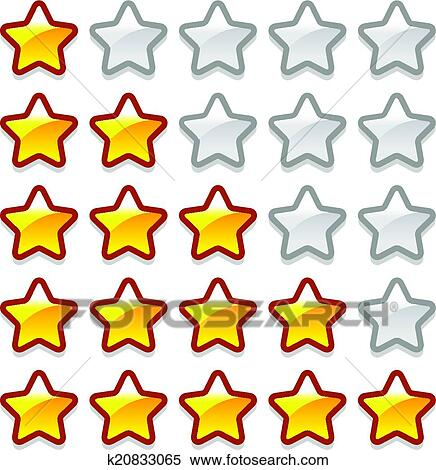 Clipart of Game web rating stars set k20833065 - Search Clip Art ...
