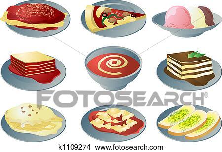 イタリアの 料理 アイコン イラスト K1109274 Fotosearch