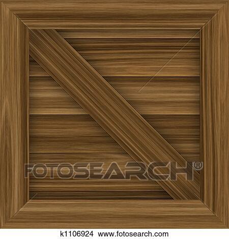 木 貨物 木枠 イラスト K1106924 Fotosearch