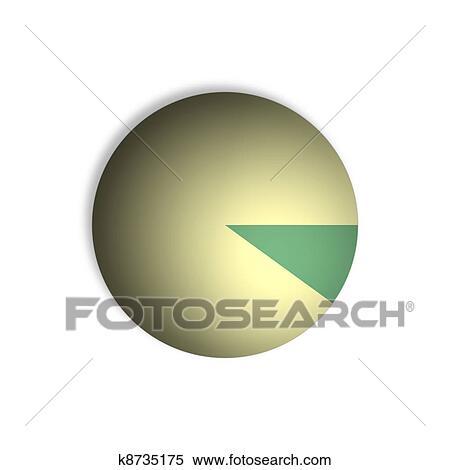 Stock Illustration Of 10 Pie Chart Percentage Graphics K8735175