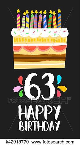 Alles Gute Geburtstag Karte 63 Sechzig Drei Jahr