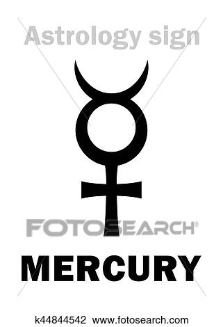 Clipart Of Astrology Planet Mercury K44844542 Search Clip Art