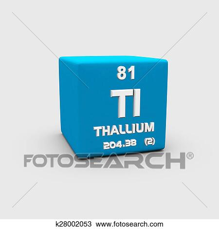 Drawing Of Atomic Number Thallium K28002053 Search Clipart