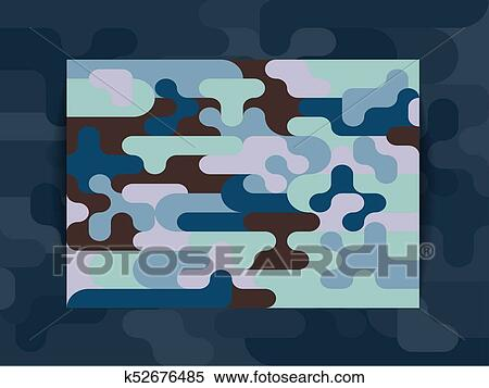 Horizontal Cover A4 Background From A Multi Colored Camouflage Geometric Pattern Clipart K52676485 Fotosearch