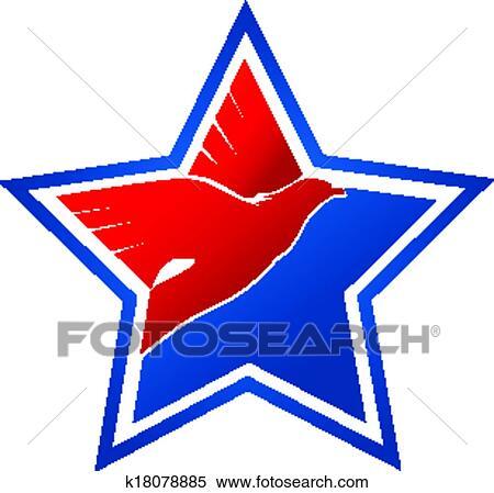 Clipart Of American Flag Eagle Logo K18078885 Search Clip Art
