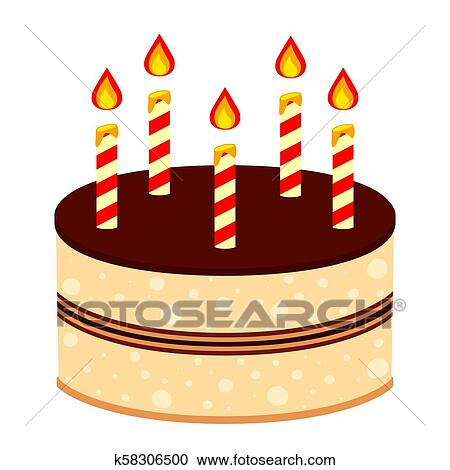 Strange Colorful Cartoon Birthday Cake 5 Candles Clipart K58306500 Funny Birthday Cards Online Fluifree Goldxyz