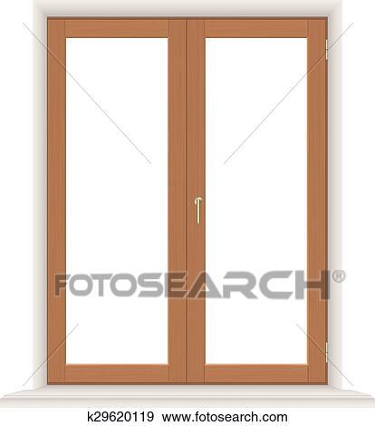 Simple Wooden Window Clip Art K29620119 Fotosearch