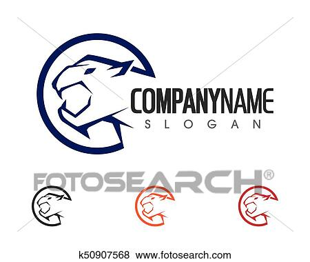 Clip Art Of Tiger Logo Template K50907568 Search Clipart