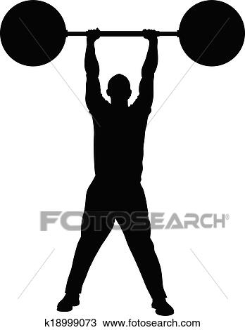 clipart of weight lifting strength k18999073 search clip art rh fotosearch com weight training clipart weight training clipart