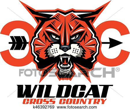 clip art of wildcat cross country k46392769 search clipart rh fotosearch com