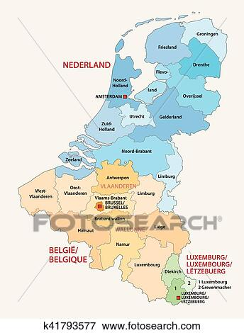 map of belgium and luxembourg Benelux Map Clip Art K41793577 Fotosearch map of belgium and luxembourg
