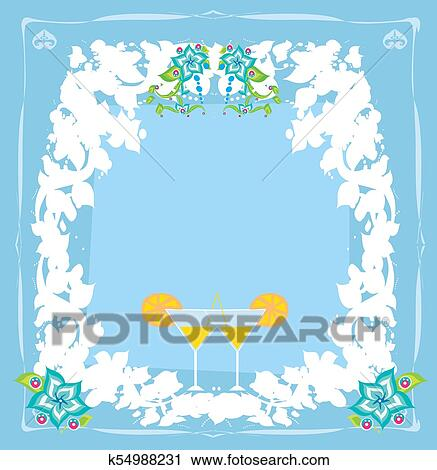 Cocktail Party Invitation Card Clipart K54988231 Fotosearch