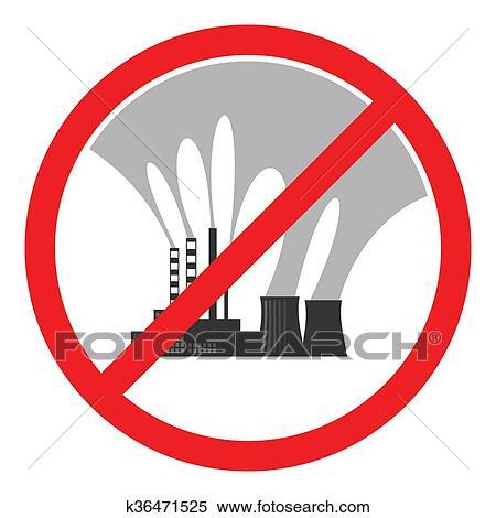 止まれ 大気汚染 印 イラスト イラスト K36471525 Fotosearch