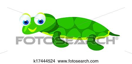 Cute Baby Turtle Stock Illustration K17444524 Fotosearch