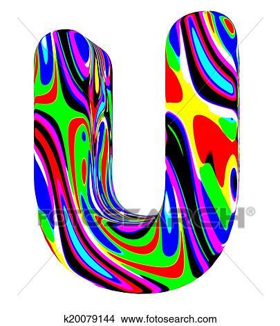 Alphabet Psychédélique dessins - psychédélique, alphabet-u k20079144 - recherche de clip