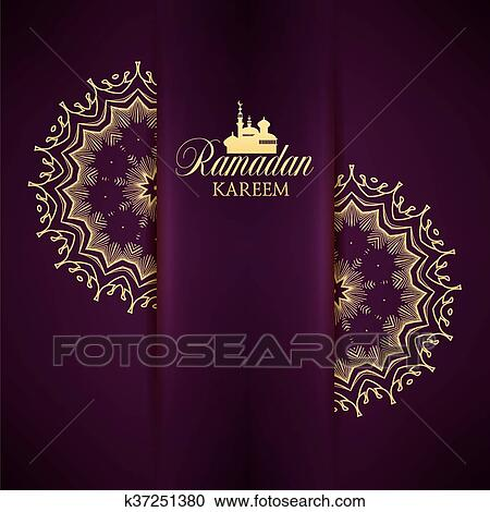 Clipart of ramadan kareem greeting ornate background k37251380 ramadan kareem greeting ornate background vector illustration eid mubarak islamic art design template m4hsunfo