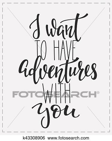 Clip Art Of Travel Life Inspiration Quotes Lettering K43308906