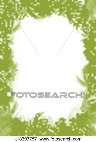 clip art of tropical jungle rain forest vector background blank