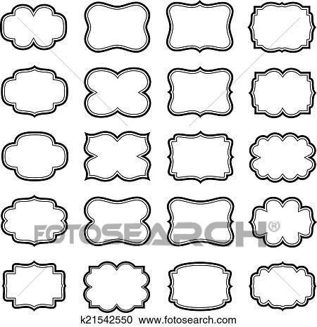 Clipart - vendimia, marcos k21542550 - Buscar Clip Art ...