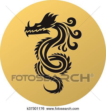 kinesisk drage tattoo